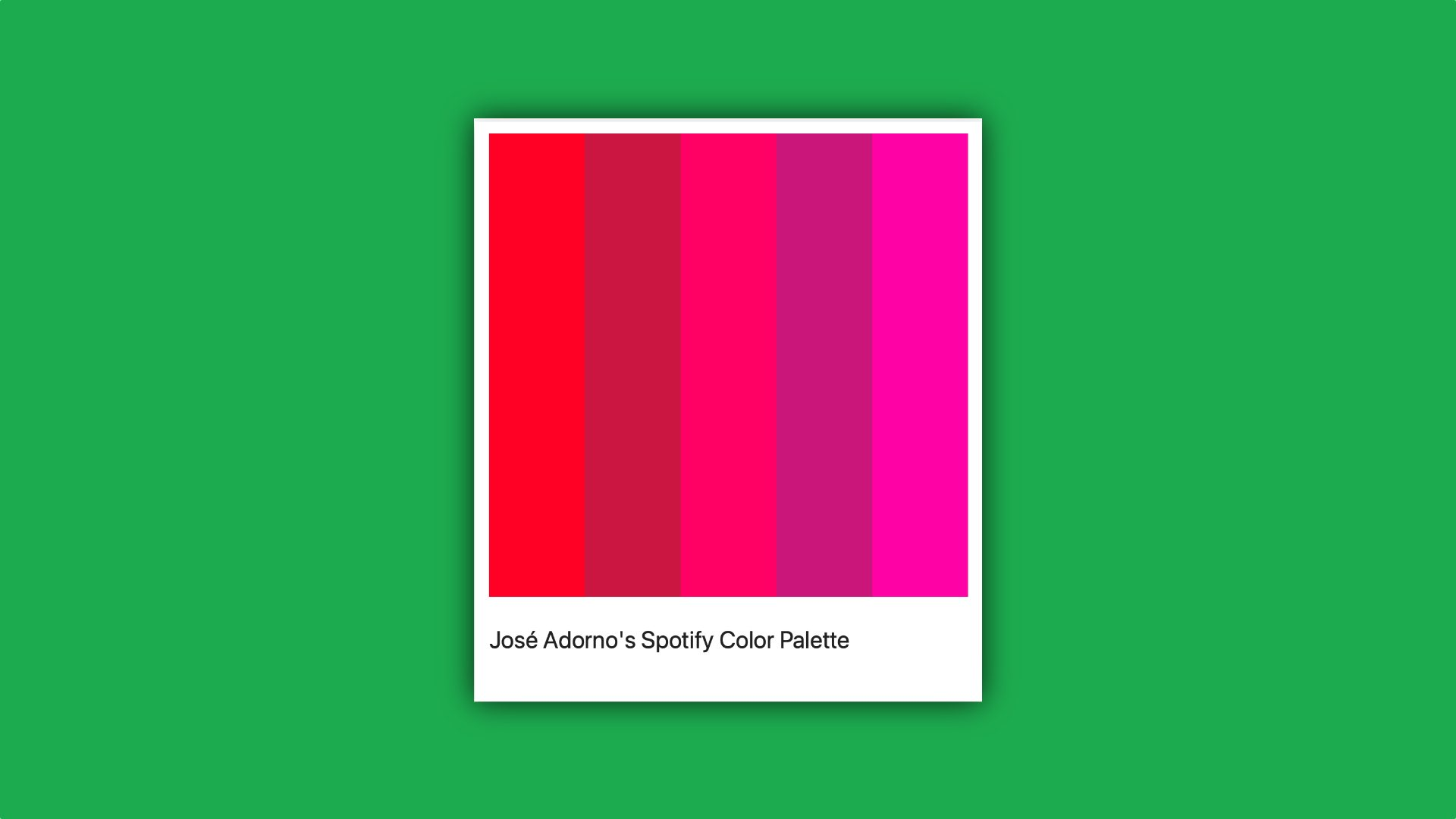 Discover your music taste in colors with 'Spotify Palette'
