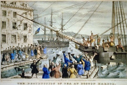 THE BOSTON TEA PARTY, 16 DECEMBER 1773