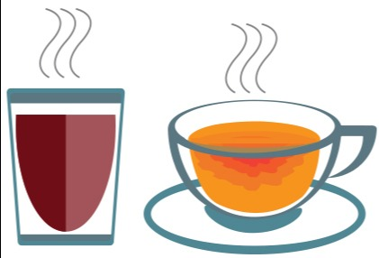 How much theophylline, a compound known to have an effect on easing asthma is contained in a cup of tea?